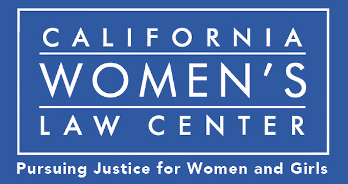 CA Womens Law Center logo with tagline