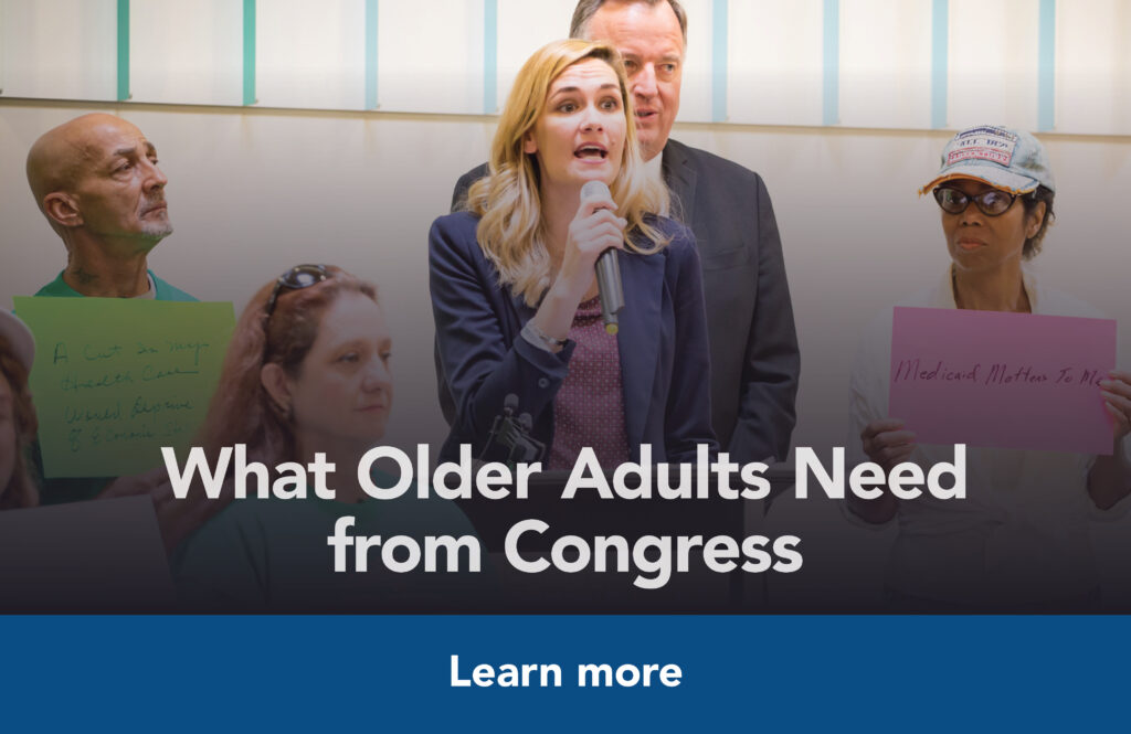 What older adults need from congress